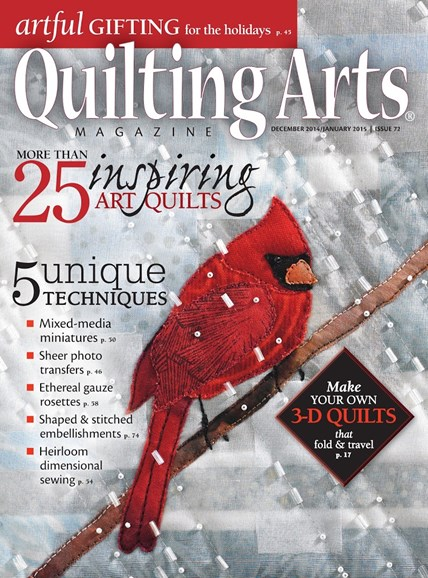 Quilting Arts Cover - 12/1/2014