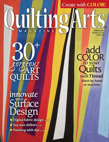 Quilting Arts Cover - 2/1/2014