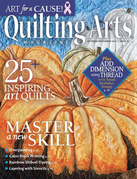 Quilting Arts Cover - 10/1/2014