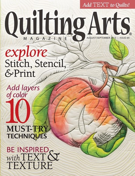 Quilting Arts Cover - 8/1/2013
