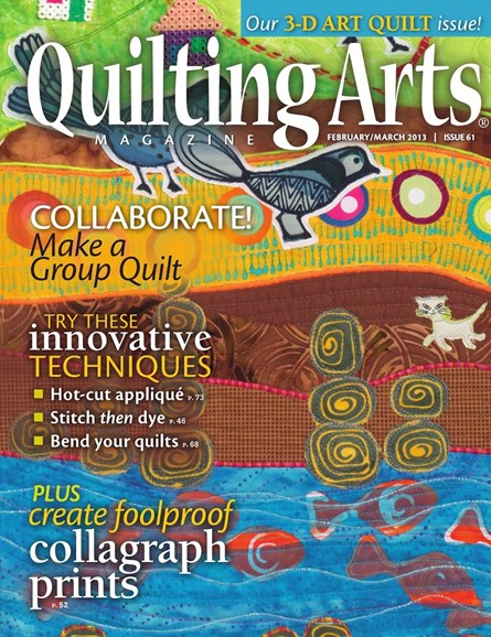 Quilting Arts Cover - 2/1/2013