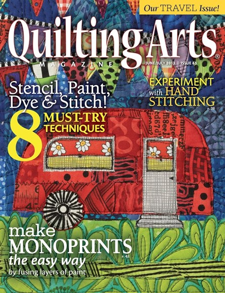 Quilting Arts Cover - 6/1/2013