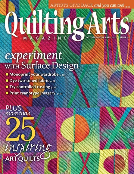 Quilting Arts Cover - 10/1/2013