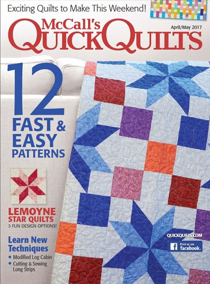 McCall's Quick Quilts Cover - 4/1/2017