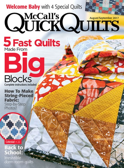 McCall's Quick Quilts Cover - 8/1/2017