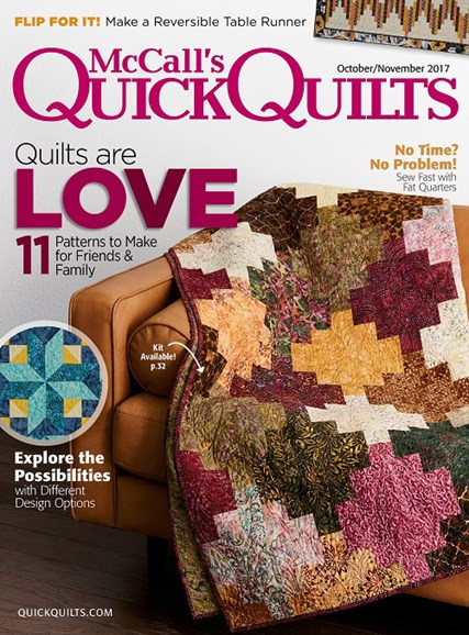 McCall's Quick Quilts Cover - 10/1/2017