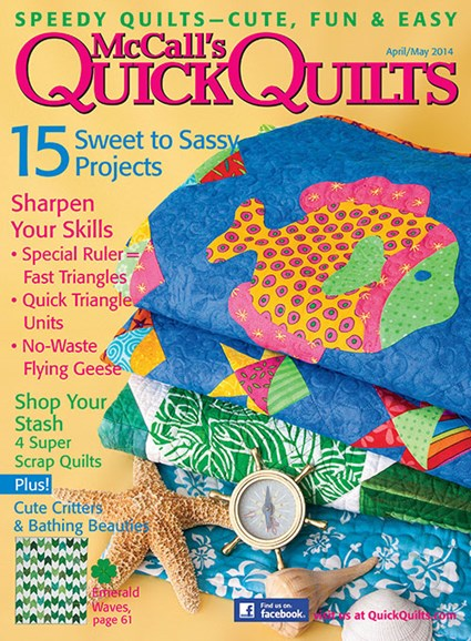 McCall's Quick Quilts Cover - 4/1/2014