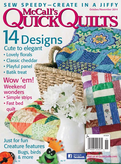 McCall's Quick Quilts Cover - 10/1/2014