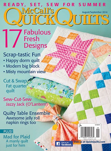 McCall's Quick Quilts Cover - 9/1/2014
