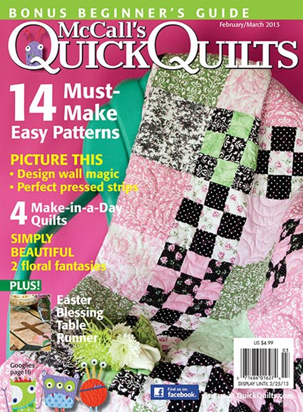 McCall's Quick Quilts Cover - 2/1/2013