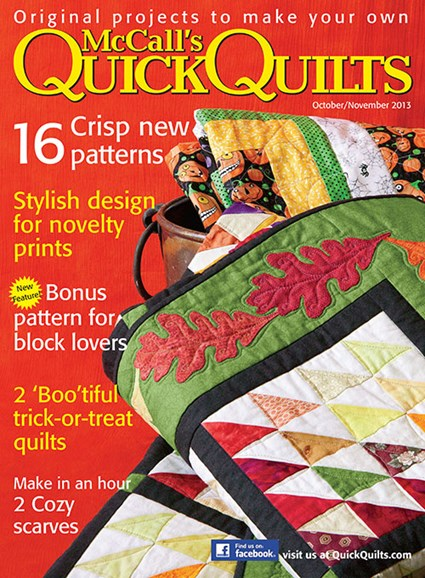 McCall's Quick Quilts Cover - 10/1/2013