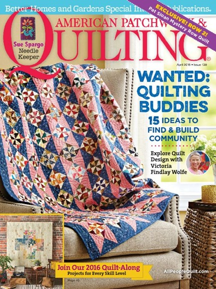 American Patchwork & Quilting Cover - 4/1/2016