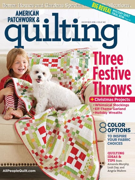 American Patchwork & Quilting Cover - 12/1/2016