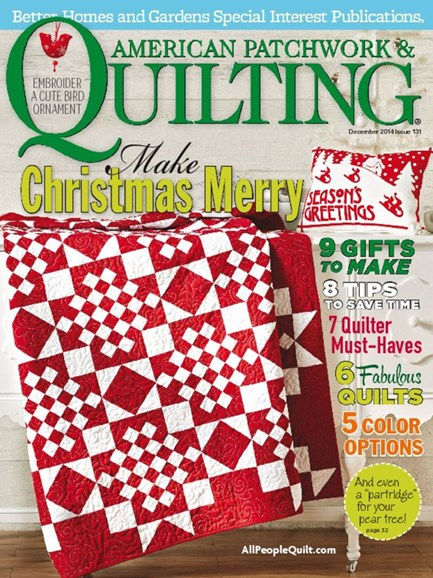 American Patchwork & Quilting Cover - 12/1/2014