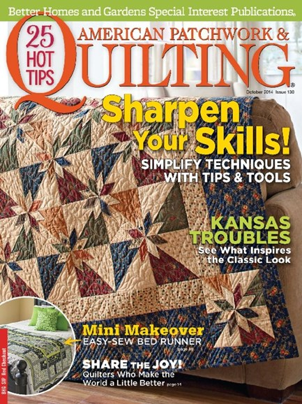 American Patchwork & Quilting Cover - 10/1/2014