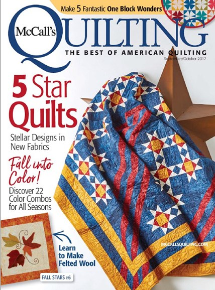 McCall's Quilting Cover - 9/1/2017
