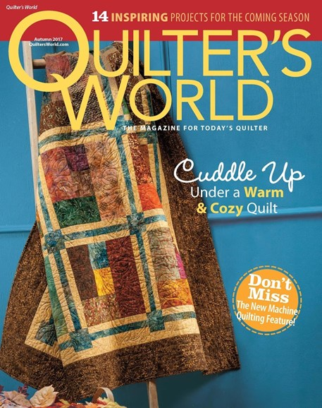 Quilter's World Cover - 9/1/2017