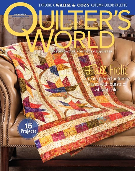 Quilter's World Cover - 9/1/2016