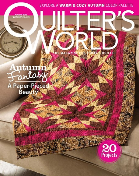 Quilter's World Cover - 9/1/2015