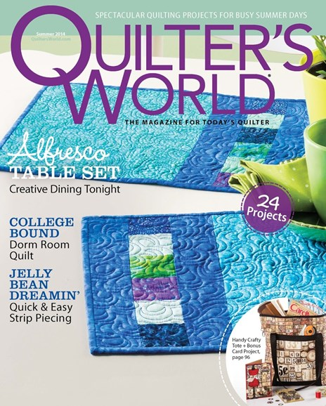 Quilter's World Cover - 6/1/2014