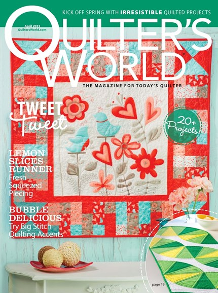 Quilter's World Cover - 4/1/2013