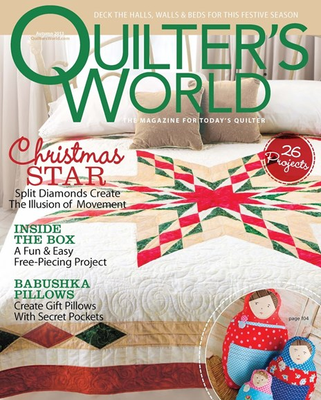 Quilter's World Cover - 11/1/2013