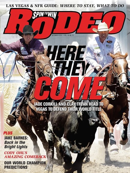 The Team Roping Journal Cover - 12/1/2014