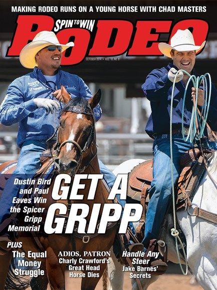 The Team Roping Journal Cover - 10/1/2014
