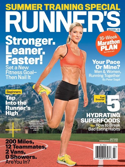 Runner's World Cover - 7/1/2016