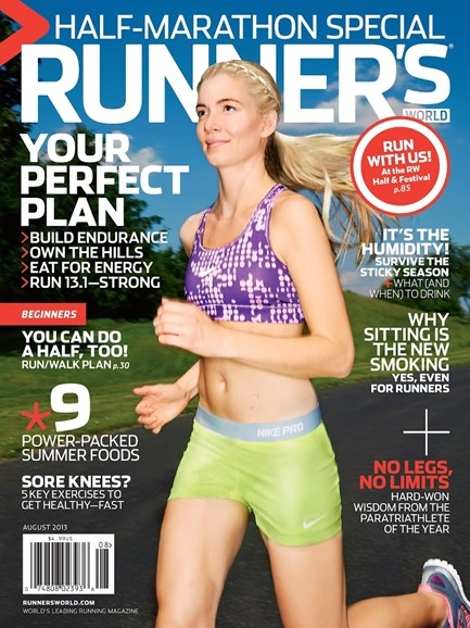 Runner's World Cover - 8/1/2013