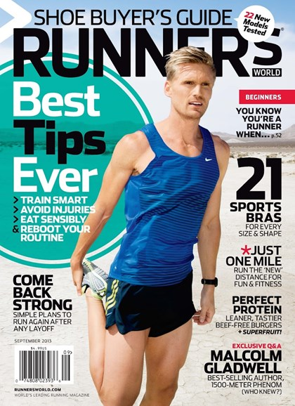 Runner's World Cover - 9/1/2013