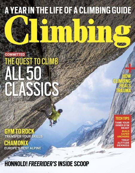 Climbing Magazine Cover - 8/1/2017