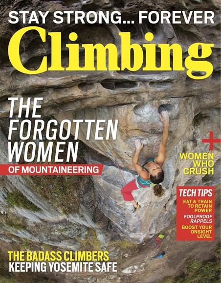 Climbing Magazine Cover - 9/1/2017