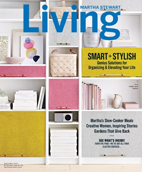 Martha Stewart Living Cover - 9/1/2017