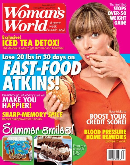 Woman's World Cover - 8/28/2017