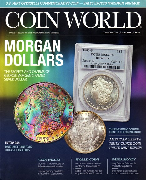 Coin World Weekly Cover - 7/1/2017