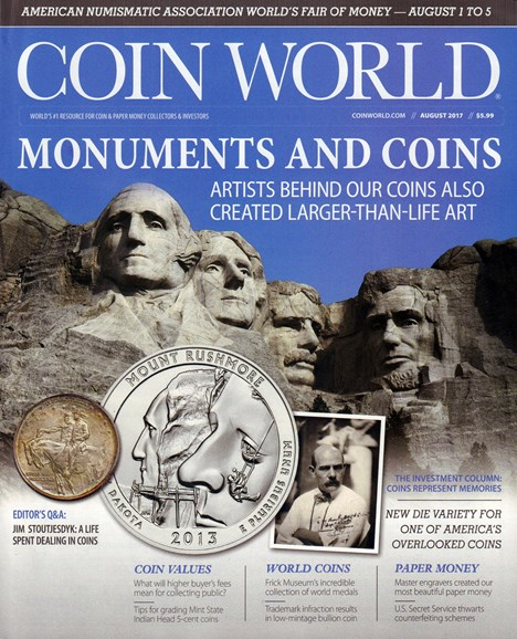 Coin World Monthly Cover - 8/1/2017