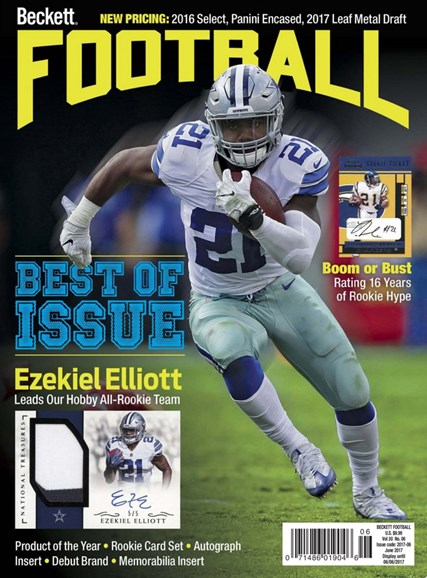 Beckett Football  Cover - 6/1/2017