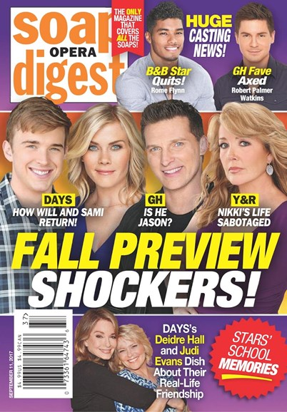 Soap Opera Digest Cover - 9/11/2017