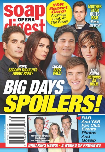 Soap Opera Digest Cover - 9/18/2017