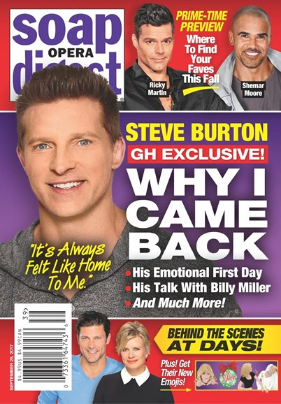 Soap Opera Digest Cover - 9/25/2017