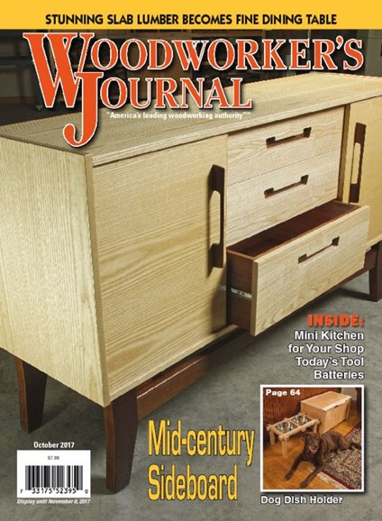 Woodworker's Journal Cover - 10/1/2017