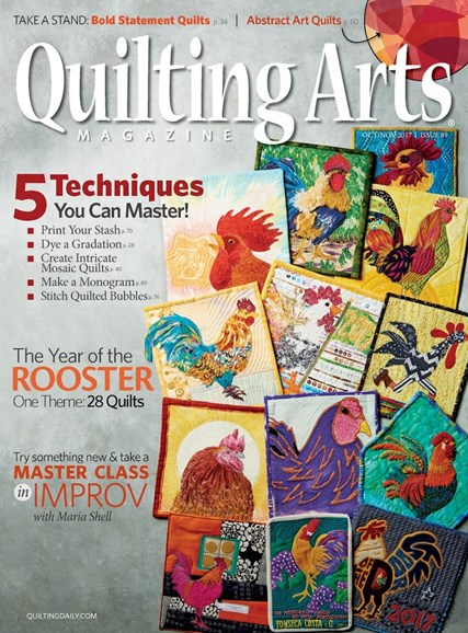 Quilting Arts Cover - 10/1/2017