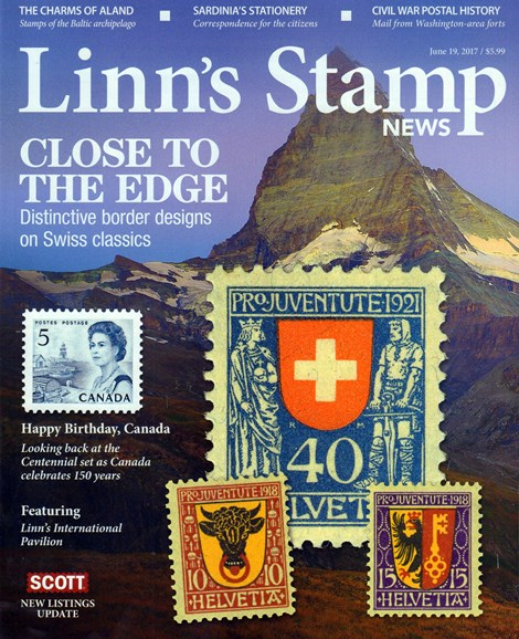 Linn's Stamp News Monthly Cover - 6/19/2017