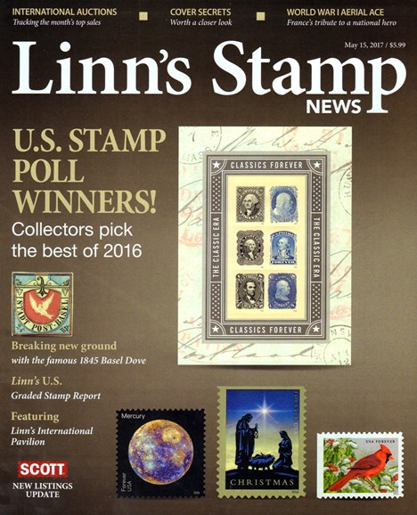 Linn's Stamp News Monthly Cover - 5/15/2017