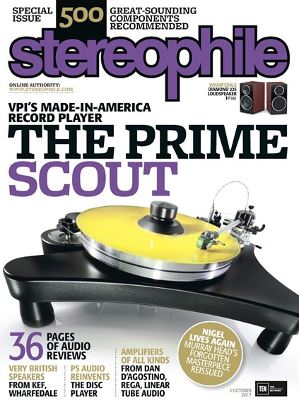 Stereophile Cover - 10/1/2017
