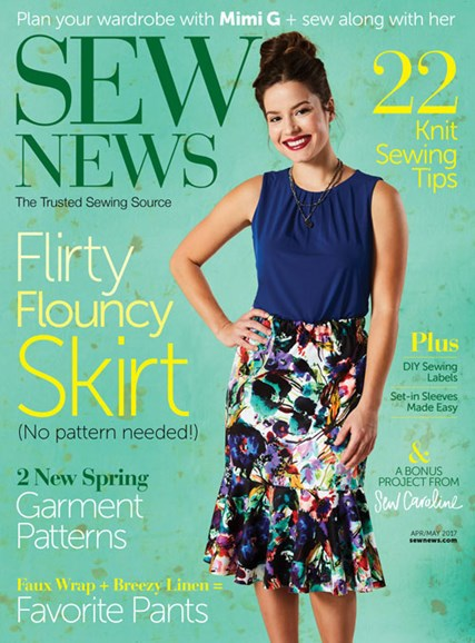 Sew News Cover - 4/1/2017