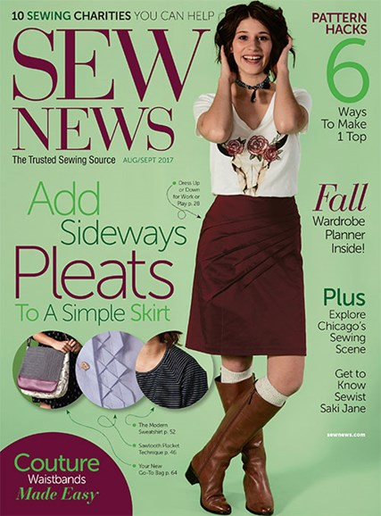 Sew News Cover - 8/1/2017