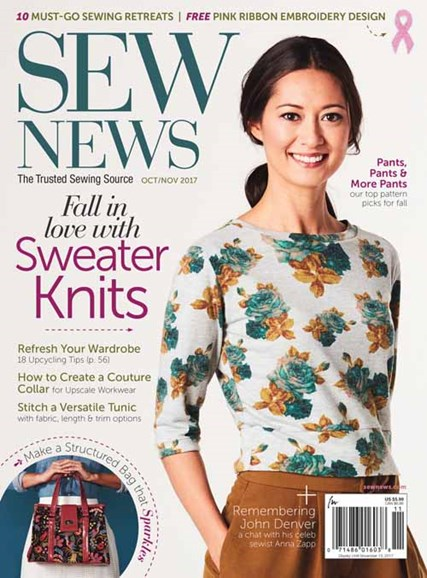 Sew News Cover - 10/1/2017