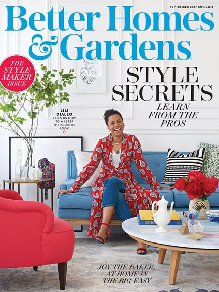 Better Homes & Gardens Cover - 9/1/2017